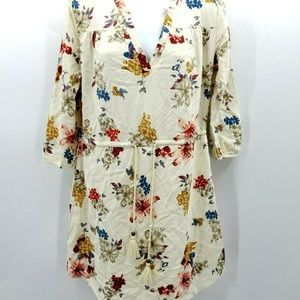 O'Neill Juniors Lynn Floral Woven Shirt Dress XS